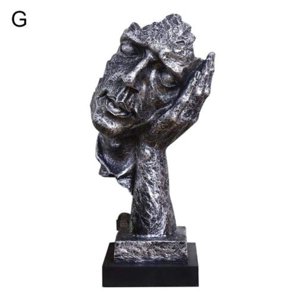 I LINZX El Silencio de la Resina es Oro Escultura Abstracta Estatuas de la Escultura del Arte Moderno para la decoraci/ón Artesan/ía Estatuilla Ornamento