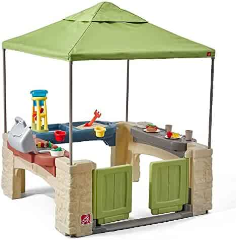 Step2 All Around Playtime Patio with Canopy Playhouse (Deluxe Pack: Includes All Toys & Accessories)