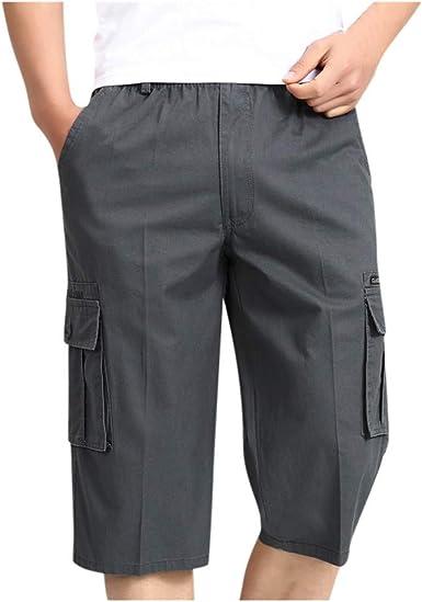 Pantalones Cortos Hombre Verano Casual Moda Trabajo Pantalones Corta Deporte Jogging Pantalon Fitness Pants Chandal Hombre Ropa de Hombre Pantalones de Trekking Pantalones de Playa vpass: Amazon.es: Ropa y accesorios