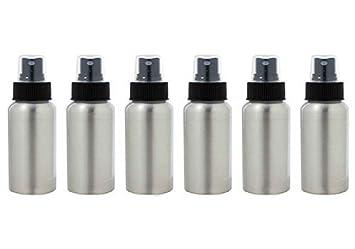 545e13b5dec5 AKOAK 6 Pcs 1 Oz Aluminum Fine Mist Spray Bottles with Black Pump Spray  Cap,Great for Cleaning,...