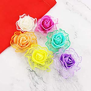 Yellow Color 50pcs/lot Artificial PE Foam Rose Flower For Wedding Decoration DIY Scrapbooking Handmade Craft Accessories Wreath Flower 14