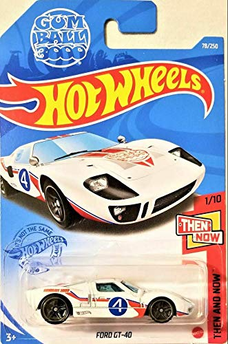 DieCast Hotwheels Ford GT40 (White) 78/250 - Then and Now 1/10