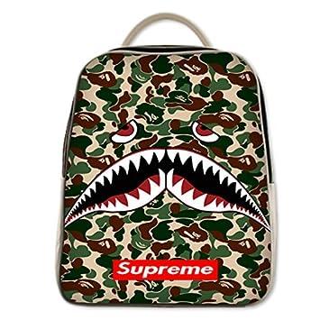 Shark The A Bathing Ape Camo Supreme Custom Backpack By King