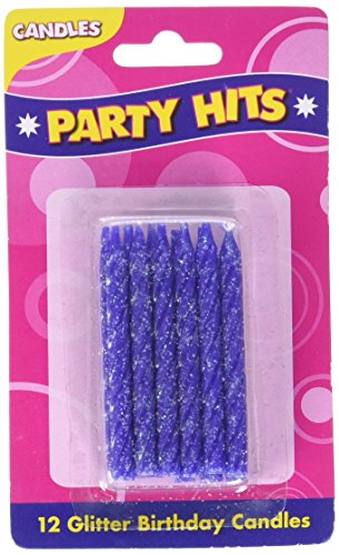Oasis Supply Glitter Birthday Candles, 2.25-Inch, Purple