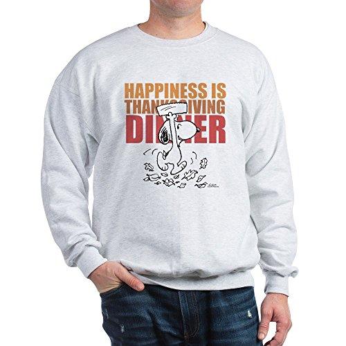 Peanuts Thanksgiving Dinner (CafePress Peanuts Happiness Thanksgiving Dinner Classic Crew Neck Sweatshirt Ash)