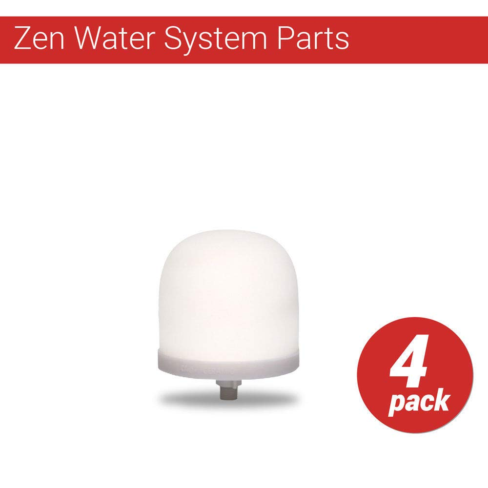 Zen Water System Replacement Ceramic Dome Water Filter 0.5 to 1 micron 4 pack