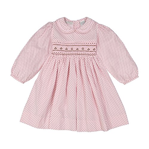 Hand Smocked Girls Dress - Carriage Boutique Baby Girls Hand Smocked Long Sleeve Dress & Panty, 6M