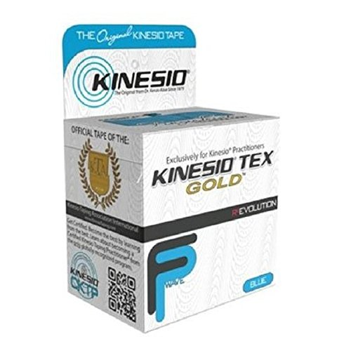 Kinesio - Tex Gold - FP - Kinesiology Tape - Water Resistant Cotton 2 Inch X 5-1/2 Yard Blue NonSterile - 6/Package - McK by Kinesio Tex Gold FP
