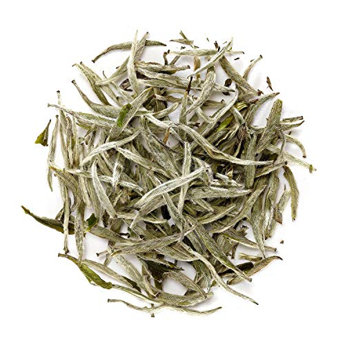 Silver Needle White Tea - Chinese Silver Tip Tea - Bai Hao Yin Zhen - White Tips Tea China - Baihao Yinzhen Loose Leaf 100g 3.5 Ounce