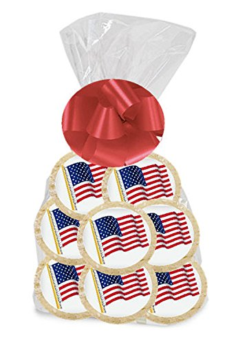 American Flag 24Pack Freshly Baked Individually Wrapped Party Favor Sugar Cookies