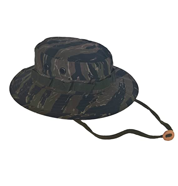 Image Unavailable. Image not available for. Color  Army Navy Shop UV  Protective Boonie Hat Tiger Stripe ... 33a3ffd269c