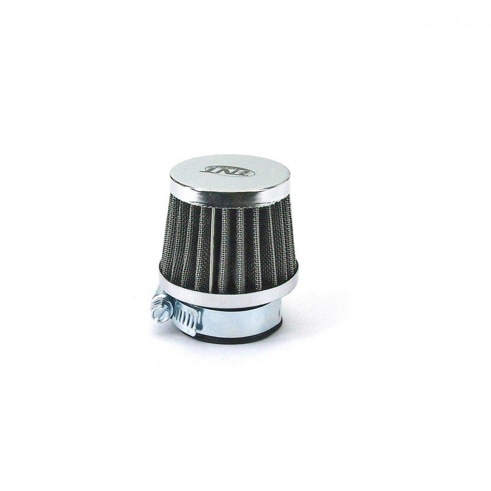 Conector 28//35/mm Derecho Filtro de Aire TNT Tejido de Acero Cromo