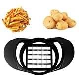 Chip Cutter,Potato Chip French Fry Cutter Stainless Steel Vegetable Cutter ABS Grind Handle Sharp blade potato cut for Home Picnic Fast Food Restaurant