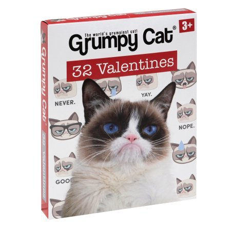 Grumpy Cat 32 Valentine Classroom Exchange Cards (I-class Card)