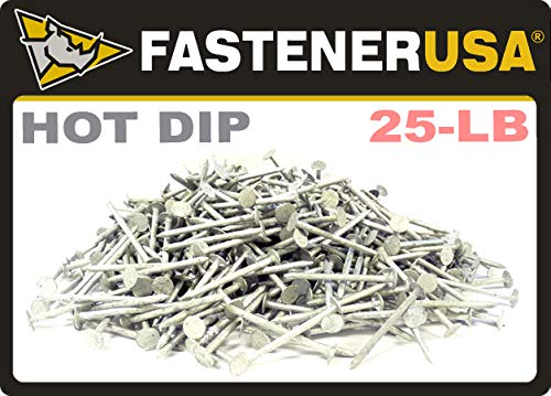 1-1/2'' x 11-Gauge 4D Smooth HOT DIP Roofing Nails 25lb by FastenerUSA