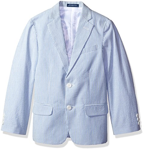 IZOD Kids Big Boys' Seersucker Jacket, Medium Blue, 08R (Cotton Seersucker Jacket)