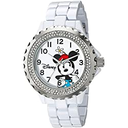 Disney Women's W001635 Minnie Mouse Analog Display Analog Quartz White Watch