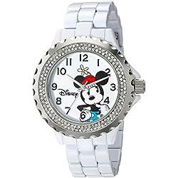 Disney Women's W001635 Minnie Mouse Analog Display Analog Quartz White Watch