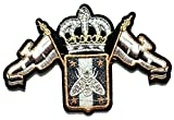 Nipitshop Patches Beautiful Crown Bee Fashion