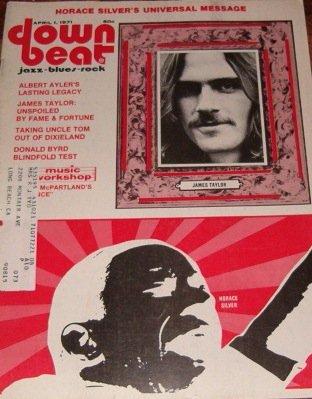 JAMES TAYLOR cover magazine: DownBeat [April 1971]