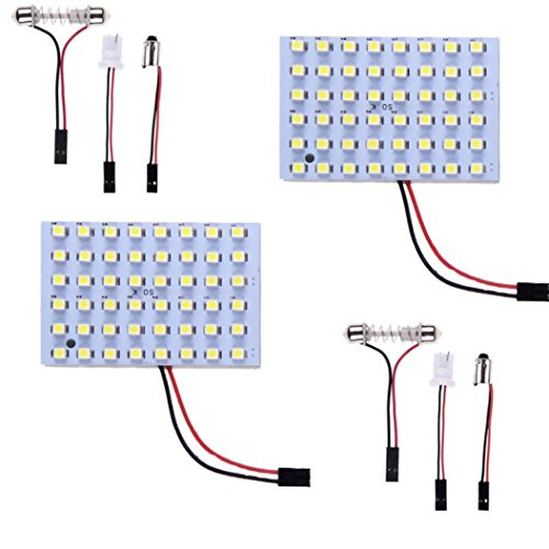 Ecosin Fashion 2x Car Vehicle Interior Panel Light 48 SMD LED T10 Bulb Lamp White