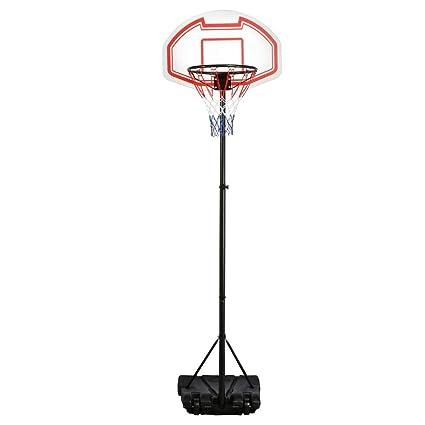 bc12811420c Amazon.com   Yaheetech Height Adjustable Basketball Hoop System Portable  Kids Junior Indoor Outdoor Net Goal Stand 29 Inch Backboard W Wheels    Sports   ...