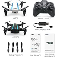 ECLEAR Mini RC Dual Drone RTF Remote Control Quadcopter Foldable Small Airplane For Adult Kids Aerial Photography Racing