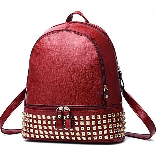 CherryGoddy-A The New Rivet Shoulder Bag zipper Bag Travel Bag - In Atlanta Outlet Shopping
