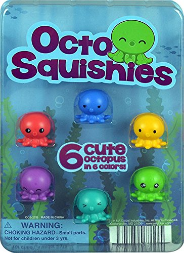 1'' OCTO SQUISHIES Toy Capsules - 250 count(display Included) by FIRST CLASS VENDING