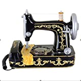 LPY-Retro Craft Phone Home Desk Phone Personality Antique Sewing Machine Style With Push Buttons