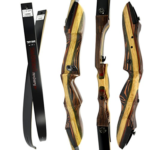 TigerShark Premium Takedown Recurve Bow by Southwest Archery USA |LIMITED TIME SALE| available with Stringer Tool | weights 29-60 lb | LEFT and RIGHT HANDED | ASSEMBLY INSTRUCTIONS INCLUDED | RH 50 WS - Southwest Strings