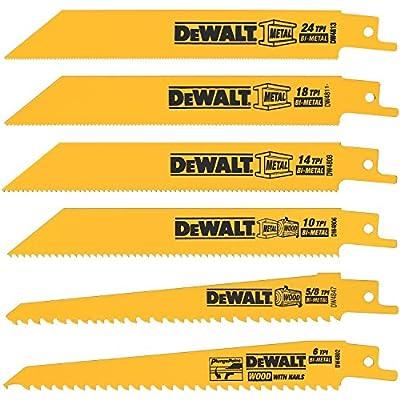 DW4856 Metal/Woodcutting Reciprocating Saw Blade Set, 6-Piece by DEWKALT.