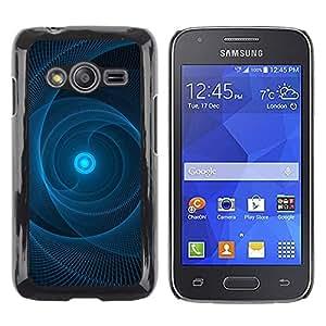 FECELL CITY // Duro Aluminio Pegatina PC Caso decorativo Funda Carcasa de Protección para Samsung Galaxy Ace 4 G313 SM-G313F // Sun Pulsar Web Black Pattern