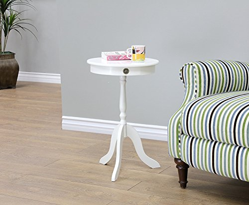 Indoor Multi-Function Accent Table Study Computer Home Office Desk Bedroom Living Room Modern Style End Table Sofa Side Table Coffee Table White dining table by DASII