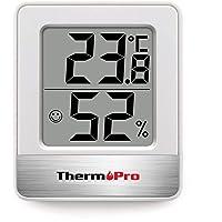 ThermoPro TP49 Mini Igrometro Termometro Digitale Termoigrometro da Interno per Casa Monitor di Temperatura e umidità per Ambienti con Livello di Comfort