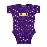 LSU Tigers NCAA College Newborn Infant Baby Heart Creeper (6 Months)