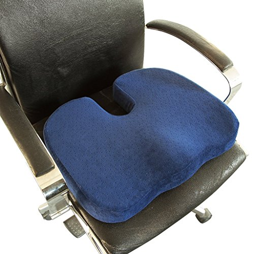 Chirodoc Coccyx Seat Cushion With Removable Heating Pad