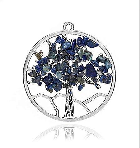 nobranded 7 Chakra Árbol de la Vida Colgante Collar Cristal Natural Piedra Sabiduría Vida Árbol Collar Mujeres