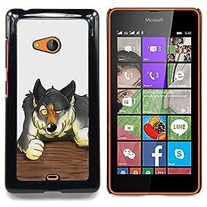 Jordan Colourful Shop - The Werewolf For Microsoft Nokia Lumia 540 N540 - < Personalizado negro cubierta de la caja de pl??stico > -