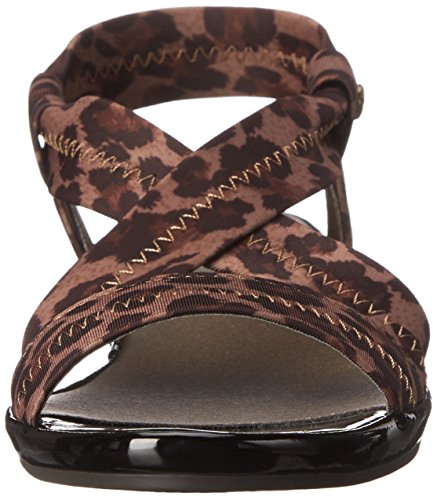 Life Stride Debutante Damen US 9.5 Braun Keilabsätze Sandale