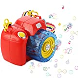 Bubble Camera Gun,Developmental Bubble Shooter & Blower Machine Toy With Music & Sounds Solution for 2, 3, 4, 5 year olds, Little Kids, Party and Gift Use, Kid's Activity Fun Play Toys