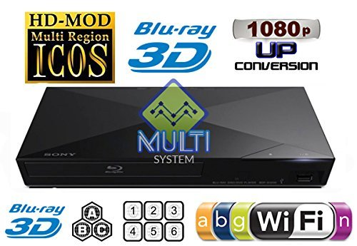 SONY S5500 2D/3D Multi System Region Free Zone Free Blu Ray Disc DVD Player
