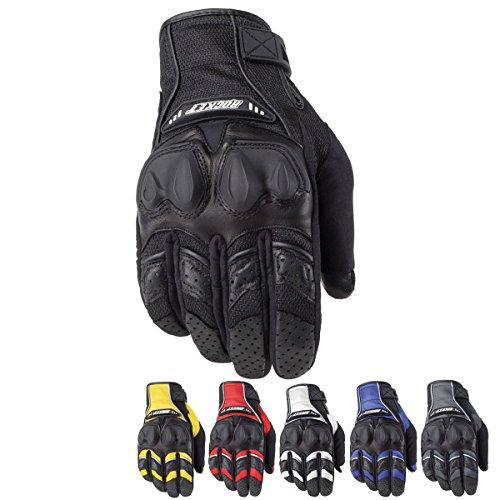 Joe Rocket Phoenix 4.0 Men's Leather Road Race Motorcycle Gloves - Blue/Black/Silver / Large