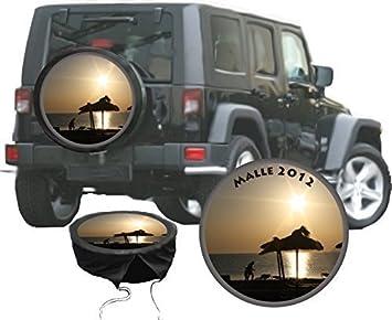 Pegatina personalizada con tu propia foto y texto para funda de rueda de repuesto, diámetro 60 cm: Amazon.es: Coche y moto