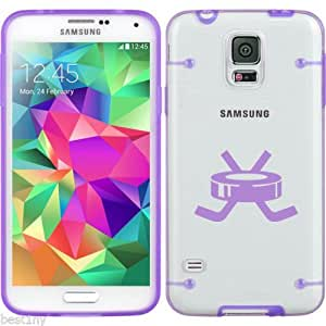 Purple Samsung Galaxy Ultra Thin Transparent Clear Hard TPU Case Cover Hockey Puck with Sticks (Purple for S3)
