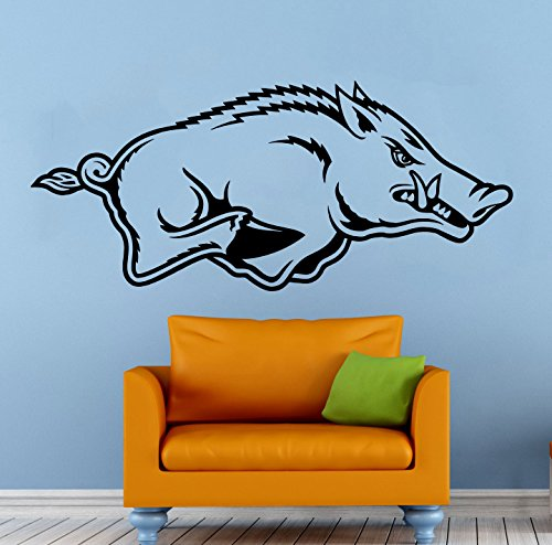 Arkansas Razorbacks Art Glass (Arkansas Razorbacks Wall Vinyl Decal Sticker NCAA College Football Sport Home Interior Removable Decor (20