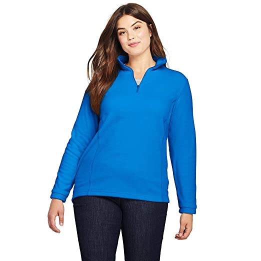 cb28fdb4938 Image Unavailable. Image not available for. Color  Lands  End Women s Plus  Size Quarter Zip Fleece ...