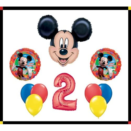 Cheap Anagram Disney Mickey Mouse Clubhouse 2 Happy Birthday Balloon Set Party Decoration by AMZKIT743 supplier