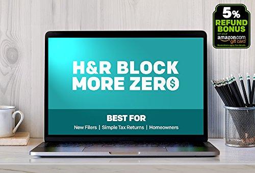 H R Block Online  More Zero   5  Refund Bonus  File Online     Start For  0