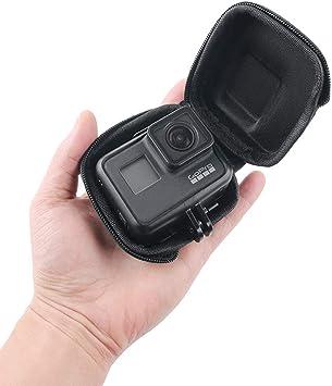 Funda protectora portátil con funda mini Compatible with GoPro Hero 7, GoPro (2018), Hero 6, Hero 5, Session, Xiaomi Yi, Sjcam y otras cámaras de ...
